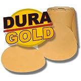 "80 Grit DURA-GOLD 6"" PSA Discs DA Sander Sandpaper Roll"