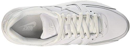 Command de Leather Zapatillas metallic White Blanco Nike Hombre MAX Silver Running Plateado White Air FEqxXg