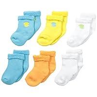 Gerber Baby Unisex 6 Pack Variety Socks, Duck, 3-6 Months