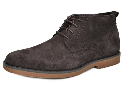 Bruno Marc Chukka Moda Italy Men's Classic Original Suede Leather Desert Storm Chukka Boots Dark-Brown Size (Originals Desert Boot)