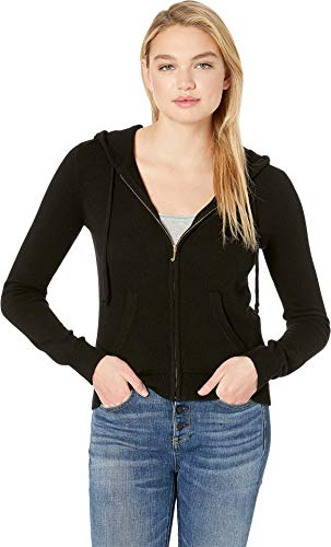Juicy Couture Women's Juicy Pull Jacket Jet Black Cashmere Petite/X-Small