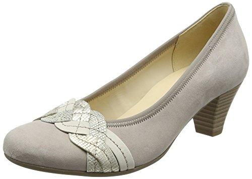 Gabor Mujer creme 10 Fashion para Shoes puder platin Zapatos Beige de Tacón rrpwq