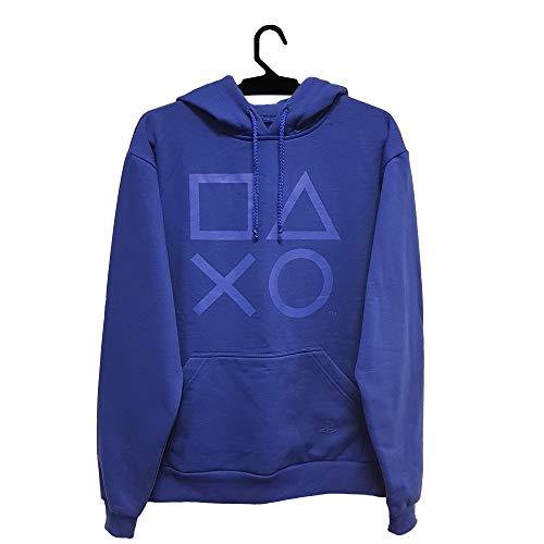 Moletom Brand Buttons, Playstation, Adulto Unissex, Azul, P