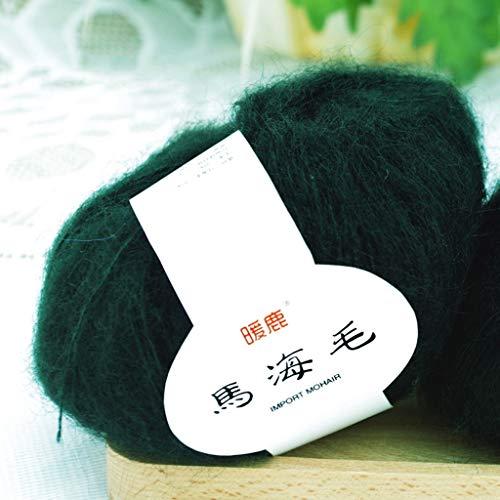 (Hacloser 25g/Skein Soft Mohair Yarn for Knitting, Cashmere Wool Yarn DIY Shawl Scarf Crochet Thread Supplies (28#))