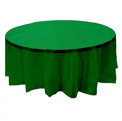 24 pcs (1 case) of Plastic Heavy Duty Premium Round tablecloths 84'' Diameter Table Cover - Kelly Green by CC