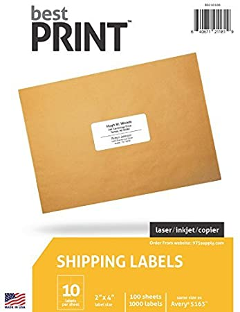 amazon address labels 10 up best print brand 2 x 4 1