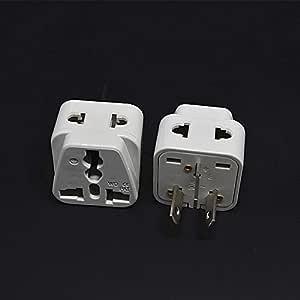 2PCS Australian/China Type I Travel Adapter 2 Way Outlet Power Plug Change US/EU/UK/Swiss/Italy/Japan to AU 3 Pin