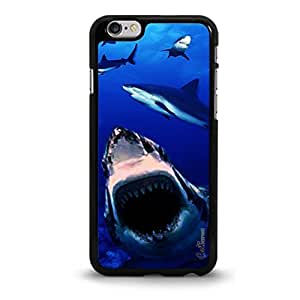 Monster Shark Attack Design Aluminum/Plastic Case Cover for Apple iPhone 6-White [Non-Retail Packaging] wangjiang maoyi by lolosakes