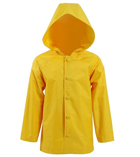 Buttons The Clown Costumes (Kids Yellow Raincoat Jacket Horror Movie Joker Clown George Cosplay Halloween Costumes)