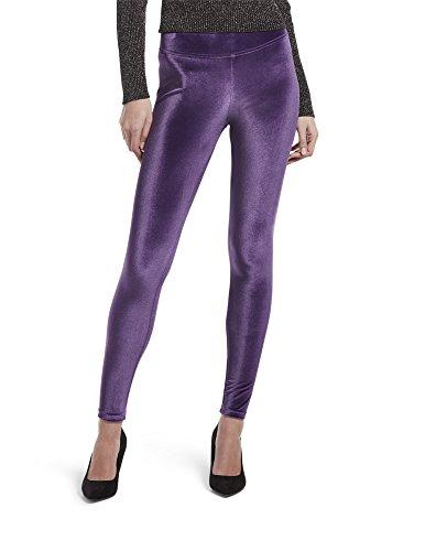 (HUE Women's Velvet Leggings, Assorted, Aubergine, L)