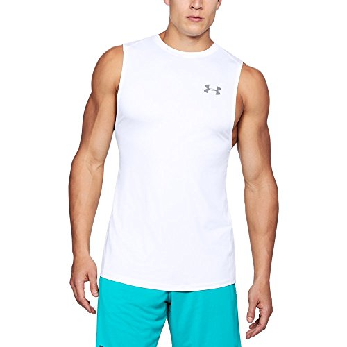 (Under Armour Men's MK-1 Sleeveless, White /Graphite, X-Large Tall)