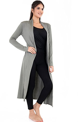 Women Lightweight Cardigan Get Coat Duster Plain The Long Front Colour Khaki Ladies Trend Jersey Sleeve Long Open s qwrxpPAEvw