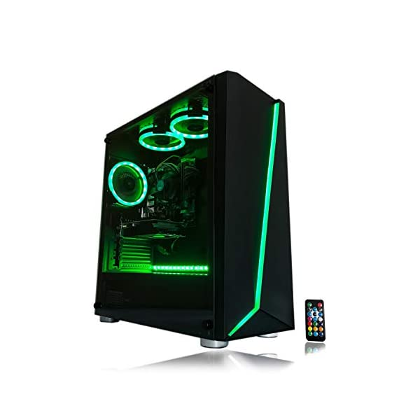 Gaming PC Desktop Computer Intel i5 3.10GHz,8GB Ram,1TB Hard Drive,Windows 10 pro,WiFi Ready,Video Card Nvidia GTX 650 1GB, 3 RGB Fans with Remote 2
