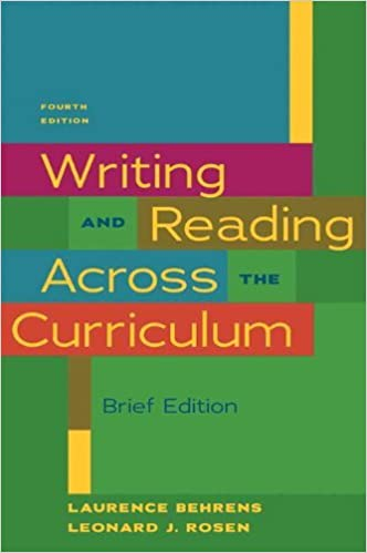 writing across the curriculum pdf