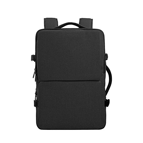 15.6' Suit - Cai 15.6 '' Business Alien Laptop Backpack Multifunctional Water-Resistant Computer Bag Double Compartments Rucksack Travel Hiking Casual Bag Satchel Daypack Unisex for Men Women 09101 Ash Black