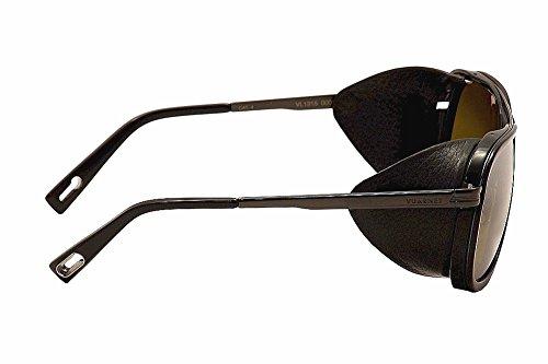 Negro Gafas para Lamer hombre Vuarnet de completa sol ZfvU0Oq