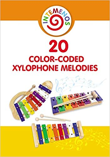 20 Color-Coded Xylophone Melodies: 20 Color-Coded and Letter