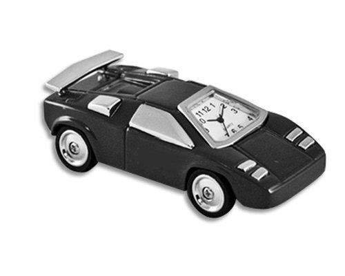 StealStreet SS-KD-3156-BLACK Die Cast Metal Formula 1 Accurate Analog Quartz Clock, Black