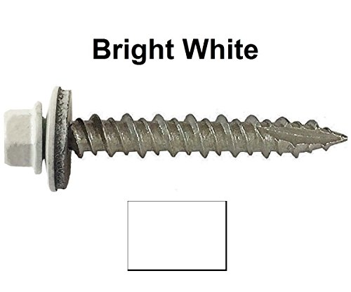10-metal-roofing-screws-250screws-x-1-1-2-brite-white-hex-washer-head-sheet-metal-roof-screw-metal-t