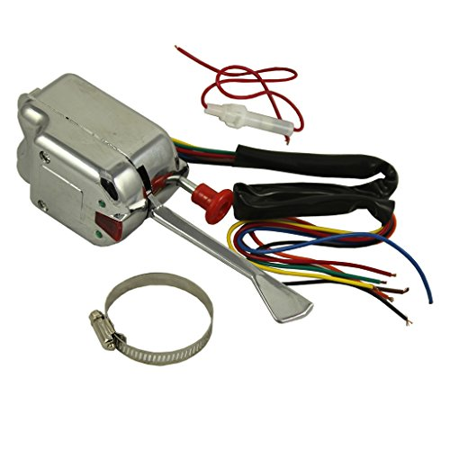 JDMSPEED New Chrome 12V Universal Street Hot Rod Turn Signal Switch For Ford Buick GM ()