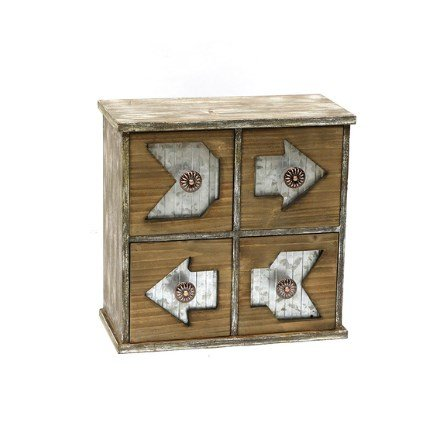Dazzling Uniqueness Chevrons Storage Chest, Fun Design, Durable Wood in Brown Finish, Rustic Look Chest, Indoor, F-SF029