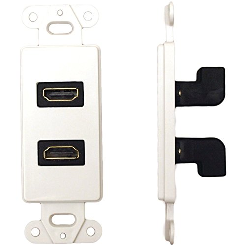 Datacomm 20-4502-WH In Wall HDMI Ports W/ 90 ° Dual HDMI Connector Consumer Electronics ()