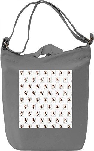 Joker Card Pattern Borsa Giornaliera Canvas Canvas Day Bag| 100% Premium Cotton Canvas| DTG Printing|