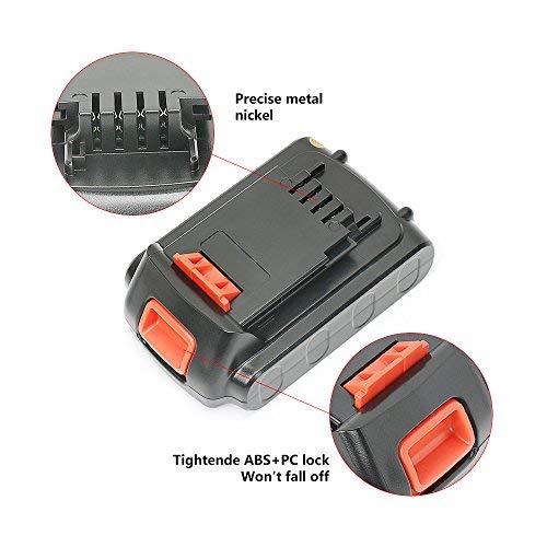 LBXR20 BL1518-XJ DBL1318L BL2018-XJ DBL1518L BL1318-XJ REEXBON 18V//20V Max 1.5Ah Li-ion Bater/ía de Reemplazo para Black Decker LB20 BL1518L LB2X4020,BL1318 BL1518 BL2018 LBX20