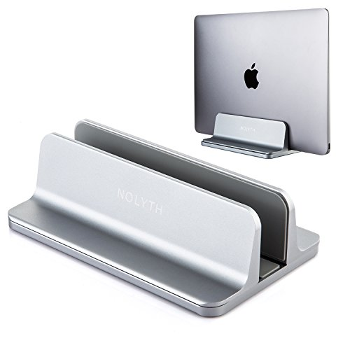 NOLYTH Vertical Laptop Stand Holder Desktop Stand with Adjustable Dock Fits All MacBook/Surface/Gaming Laptop(Grey)