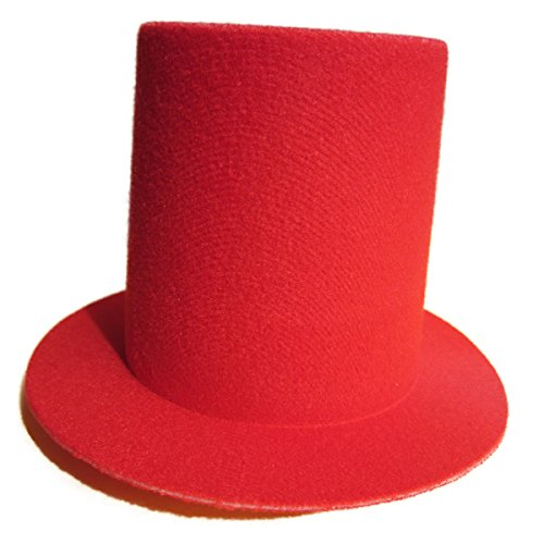 Lawliet Mini Top Tall Hat Fascinator Base Alligator Clips Millinery Craft (Red)