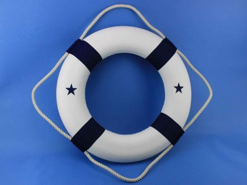 Hampton Nautical Lifering, 20'', Blue by Hampton Nautical (Image #3)