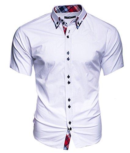 Kayhan Hawaii Herren-Hemd Slim-Fit Kurzarm-Hemden S-6XL