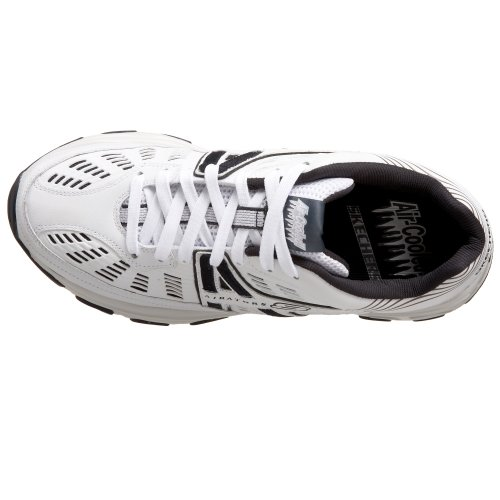 Skechers Sport Hombres Quatro Ventilated Lace Up Blanco / Azul Marino
