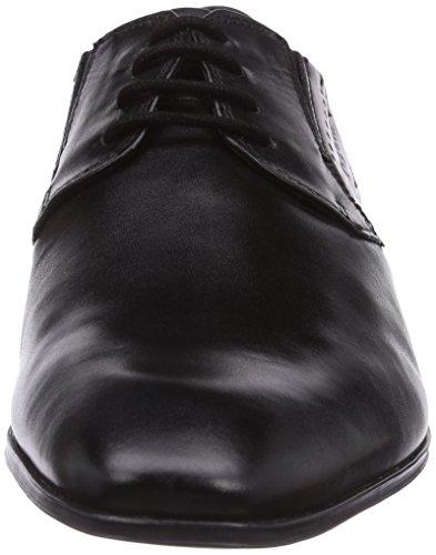 Bugatti R11041 - zapatos con cordones de cuero hombre negro - negro