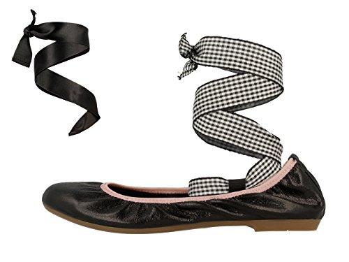 Gioseppo Women's Annica Ballet Flats, Black Black (Black 2)