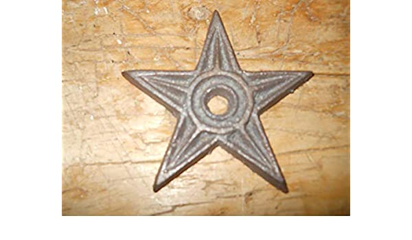 12 Cast Iron Nail Stars Architectural Washer TacksTexas Lone Star Rustic Ranch