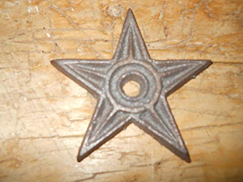 Home Decor 50 Cast Iron Stars Architectural Stress Washer Texas Lone Star Rustic Ranch Perfect for Your Farmhouse ()