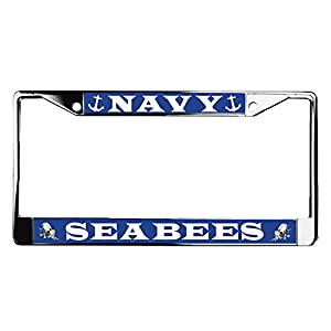 US Navy Seabees Metal License Plate Frame from VetFriends.com
