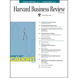 Harvard Business Review, November 2006
