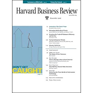 Harvard Business Review, November 2006 Periodical