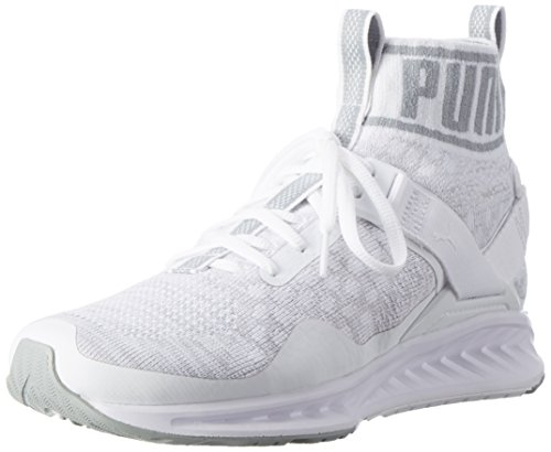 Puma Ignite Evoknit Wn's, Zapatillas de Running para Mujer Blanco (Puma White-quarry-vaporous Gray 02)