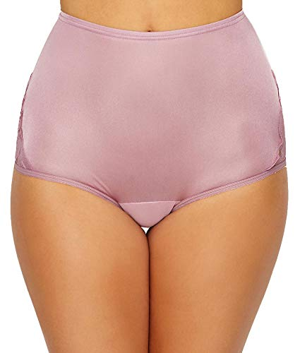 Nylon Brief Panty - Vanity Fair Women's Perfectly Yours Lace Nouveau Brief Panty 13001, Retro Rose, X-Large/8