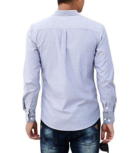 Blusa Holgada Camisa De Impresión De Manga Larga Del Otoño De Los Hombres De Gran Tamaño Grey