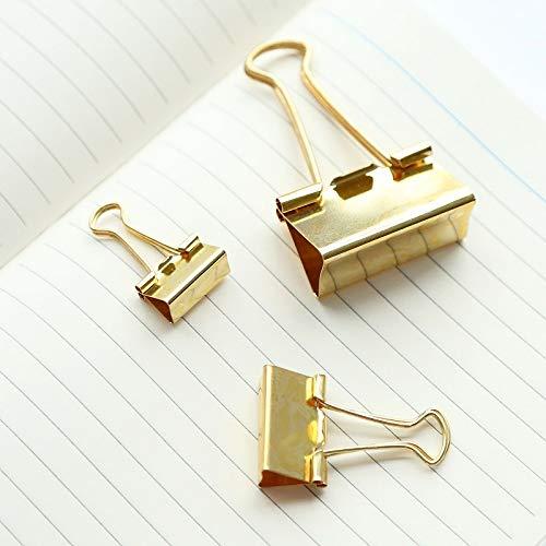 45 St/ück Foldback Klammern Gold Vielzweckklammern B/üroklammern Binder Clip 19//25//32//51mm