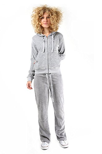 b50dde7f08c7 Womens Velour Full Tracksuit Hoodie And Jogging Pants Ladies Drawstring  Zipper Joggers Sport Gym Normal And Plus Sizes 2 Piece Set. by parsa  fashions