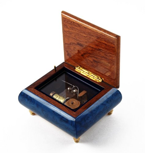Iconic Royal Blue Lion and Crown Inlay Music Box - There is No Business Like Show Business by MusicBoxAttic (Image #2)