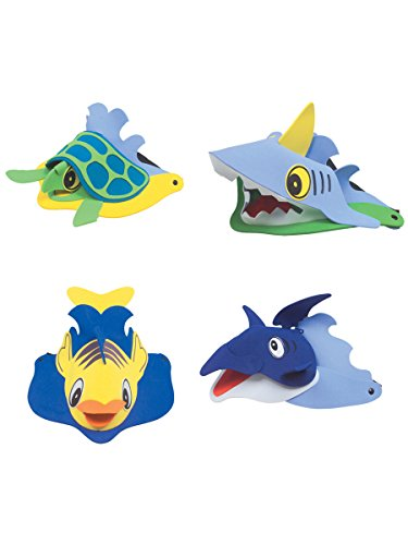 Child's Foam Sea Life Animal Visor Hat 12-Count (assorted ()