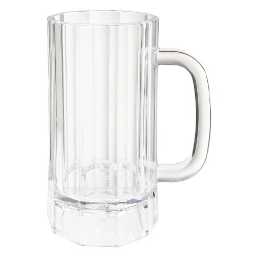 G.E.T. 00087-PC-CL Polycarbonate 20 Oz Beer Mug w/ Handle - 12 / CS by G.E.T. Enterprises