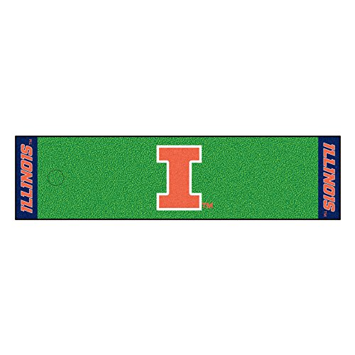 University Car Mats Illinois (Fanmats NCAA University of Illinois Fighting Illini Nylon Face Putting Green Mat)