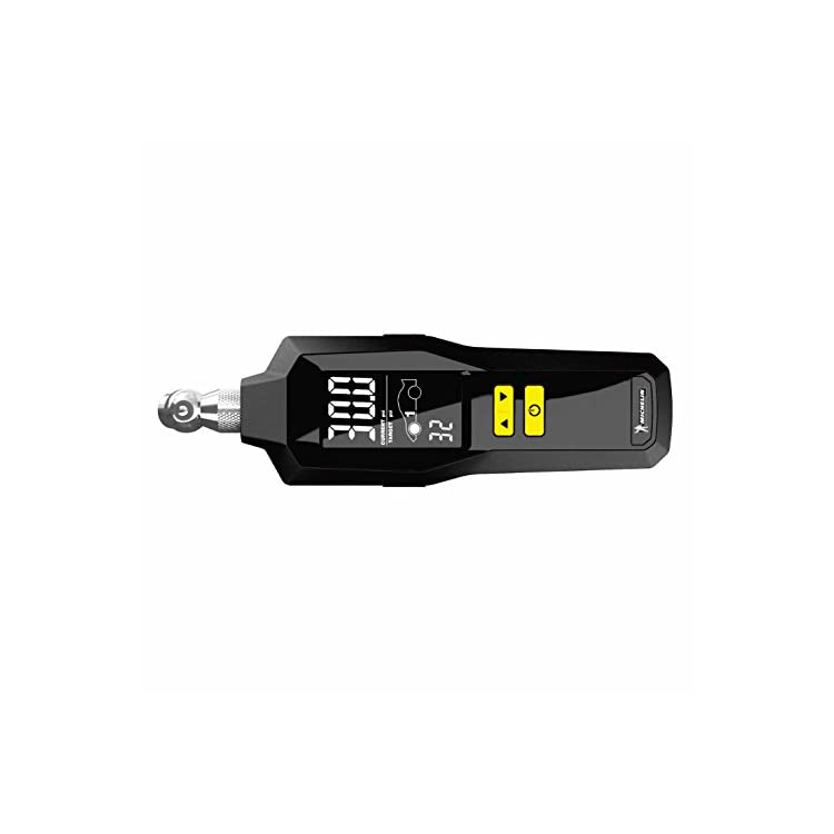MICHELIN 12295 Programmable Dual Car Digital Tire Pressure Gauge with Flashlight and Bleed Valve